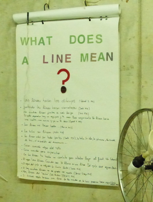 what does a line mean?