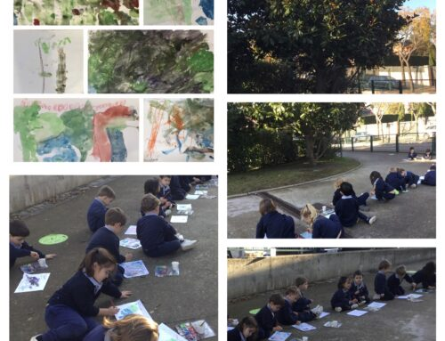 P3 outdoor learning: Dibujo y pintura del natural.