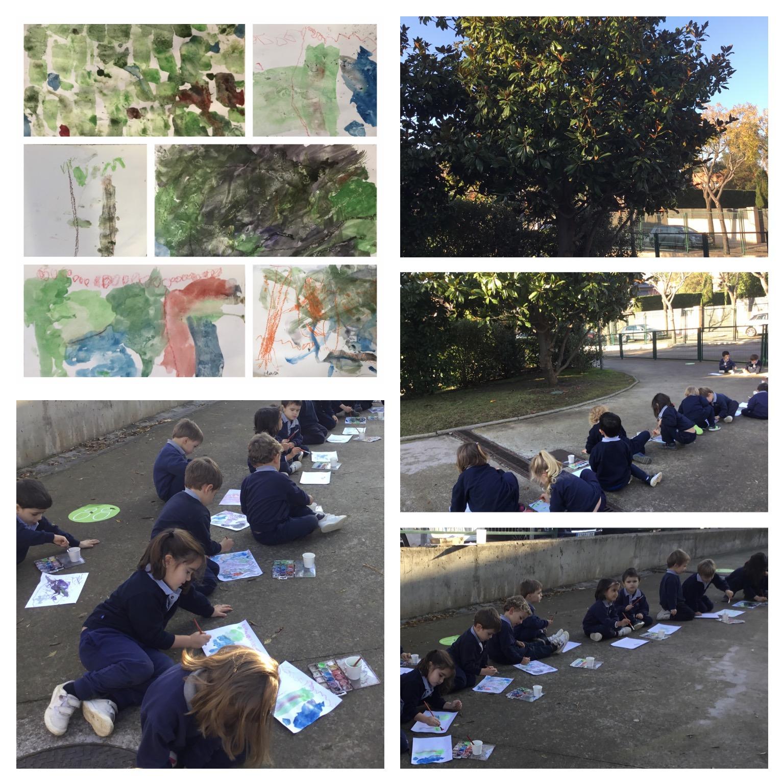 P3 outdoor learning: Dibujo y pintura del natural.